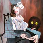 Beni Bischof: Bicasso (what the fuck?), 2013, Acrylfarbe auf Leinwand, 100 x 120 cm