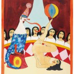 Hans Schärer: Ohne Titel, 1971, Aquarell, Tusche und Gouache auf Aquarellpapier, 52 x 38 cm, Galerie Anton Meier, Genève, © Erben Hans Schärer / ProLitteris, Zürich 2015