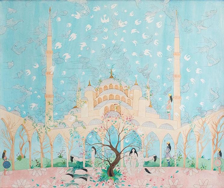Hiba Schahbaz - Hanged with Roses