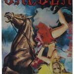 Matthias Bosshart: La fuga di Jacula - Rom, 1976, Edition 3, bearbeiteter Heftumschlag, Postkarte und Transparenter Klebstreifen, 17,8 x 12,6 cm