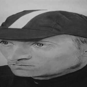 Trevor Guthrie: Jockey, 2006, charcoal on paper, 120 x 60 cm