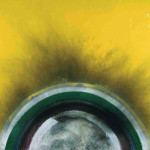 Otto Piene: Yellow, 1975, oil and smoke on canvas, 195 x 255 cm