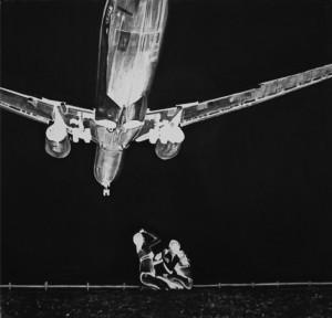 Trevor Guthrie: Jet Girls (after Hoflehner), 2011, charcoal on 250g archival paper, 100 x 100 cm