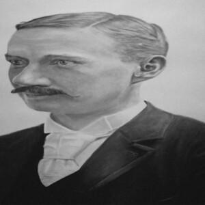 Trevor Guthrie: Morph #4, charcoal on paper, 120 x 60 cm