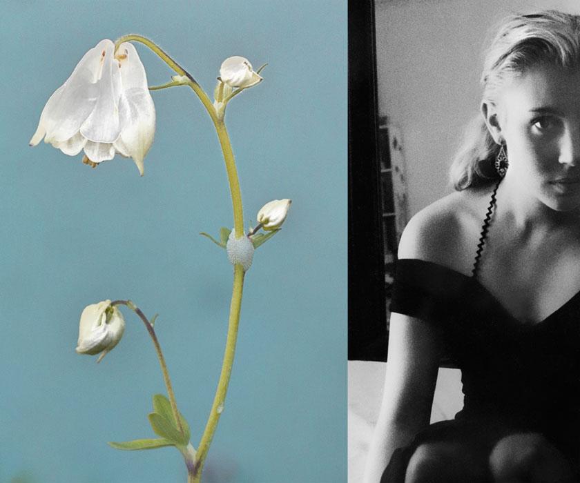 Finissage: Sonja Maria Schobinger - woman picks flowers