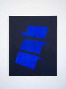 Tashi Brauen: namecards 1, acrylic paint on laserprint, mounted on Dibond, unique