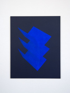 Tashi Brauen: namecards 2, acrylic paint on laserprint, mounted on Dibond, unique