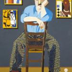 Eduardo Arroyo: Fernand Léger, 2007, Öl auf Leinwand, 195 x 130 cm, Galerie Louis Carré & Cie, Paris, © 2016, ProLitteris, Zürich