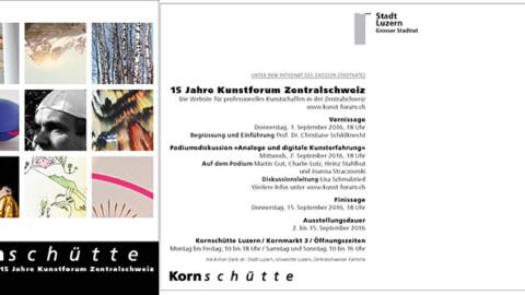 15 Jahre Kunstforum Zentralschweiz