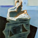 Karl Ballmer: Geist - Zwiesprache (Mittelteil aus Triptychon), 1931, Öl auf Sperrholz, 122 x 92 cm, © Kunsthaus Zürich