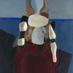 Karl Ballmer: Gliederfigur, um 1953/1957, Öl auf Pavatex, 152 x 122.5 cm, Aargauer Kunsthaus, Aarau