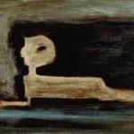 Karl Ballmer: Sphinx, um 1931, Öl auf Sperrholz, 58.5 x 74.5 cm, Aargauer Kunsthaus, Aarau / Depositum der Karl Ballmer-Stiftung