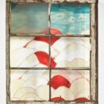 Louise Bourgeois: My Blue Sky, 1989-2003, Gouache, watercolor, ink, pencil, colored pencil and paper mounted into a wood and glass window frame, 71.1 x 58.4 x 15.9 cm, 28 x 23 x 6 1/4 inches, © The Easton Foundation/VAGA, New York/DACS, London 2016, Photo: Christopher Burke