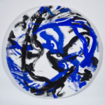 Luciano Castelli: Selfportrait, 2014, Revolving Painting, resin, canvas, engine, 200 cm diameter