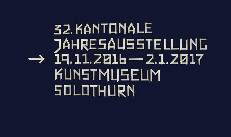 32. Kantonale Jahresausstellung der Solothurner Künstlerinnen und Künstler