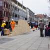 Performance: Glaser/Kunz - Wandernde Mauer