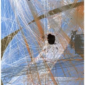 Claudia Fellmer: Melancholie Ink 2, 2017, C-Print (Epson), 29.7 x 21 cm, Tinte (MontBlanc und IndiaInk)