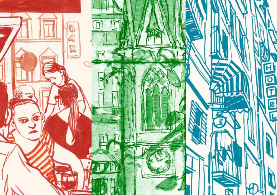 Urban Sketchers - Olivia Aloisi, Eva Eder, André Sandmann