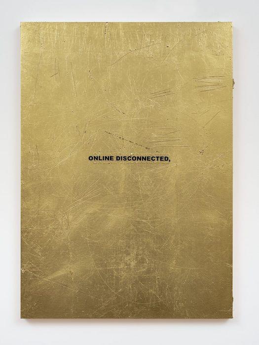Stefan Brüggemann - Untitled Action (Gold Paintings)