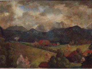 Johannes Itten, Landschaft bei Thun (1908)
