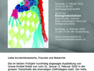 Einladungskarte Transithalle Zürich